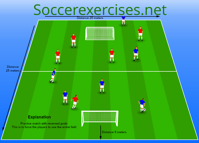 #11 practice match with reversed goals
