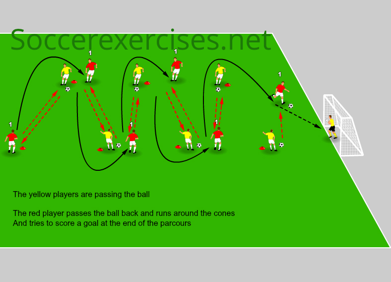 #24 Speed passing and sprinting drill