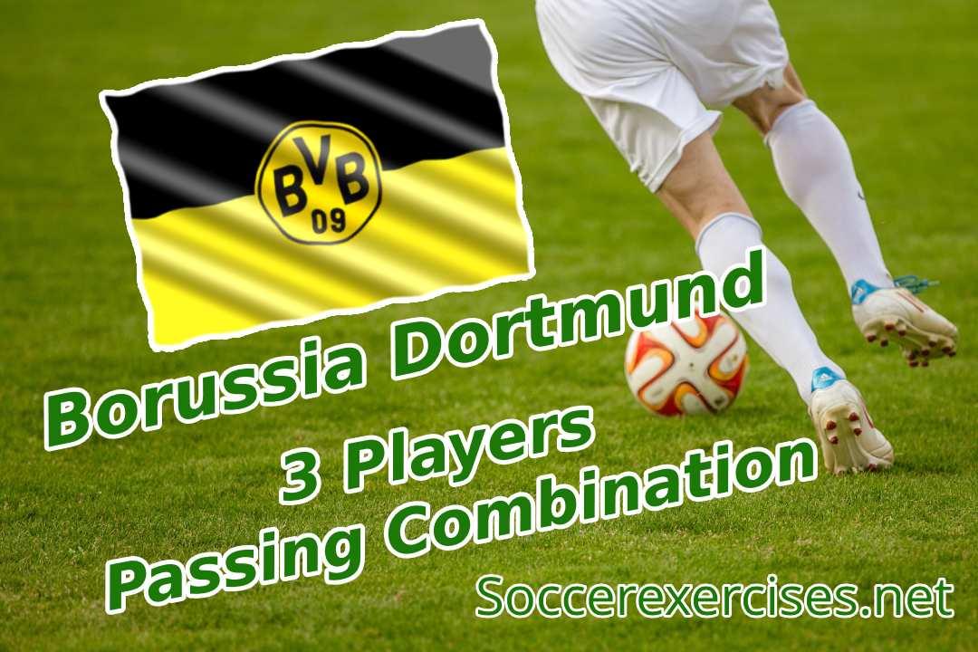 #46 Borussia Dortmund 3 Players passing Combination