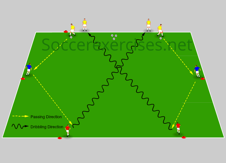 Passing and cross dribble