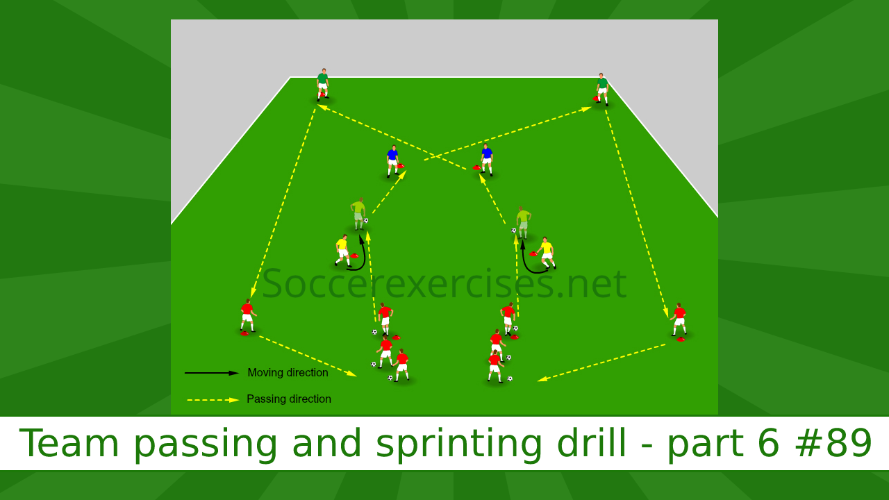 #89 Team passing and sprinting drill – part 6