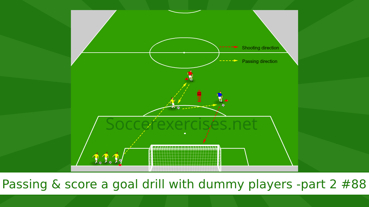 #88 Passing and score a goal drill with dummy players – part 2
