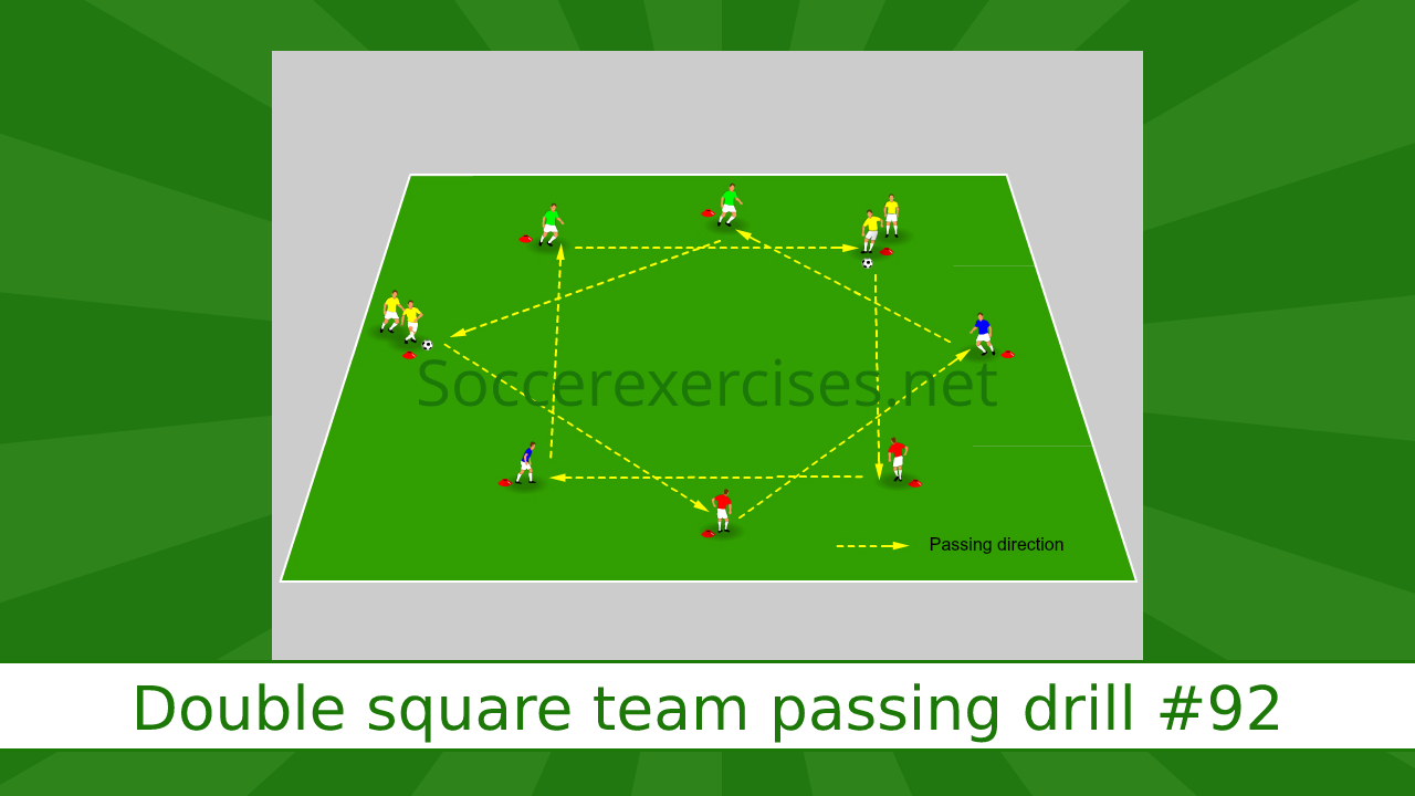 #92 Double square team passing drill