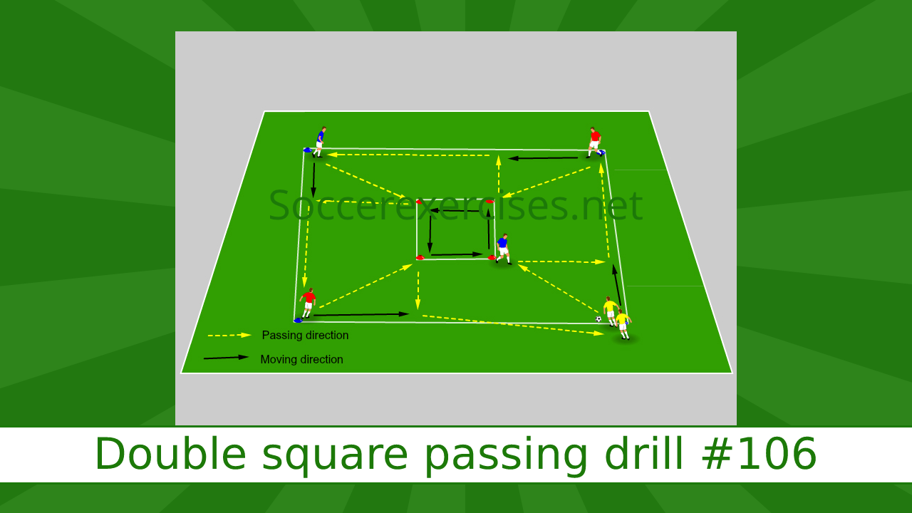 #106 Double square passing drill