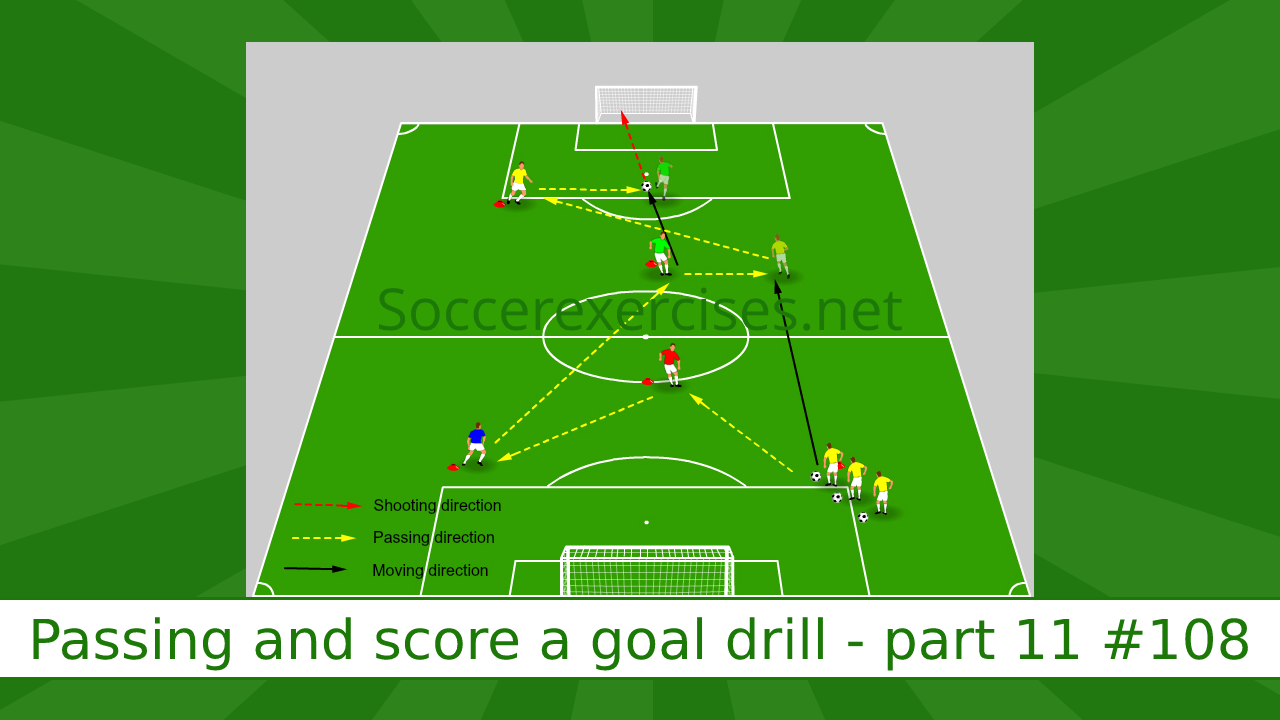 #108 Passing and score a goal drill – part 11