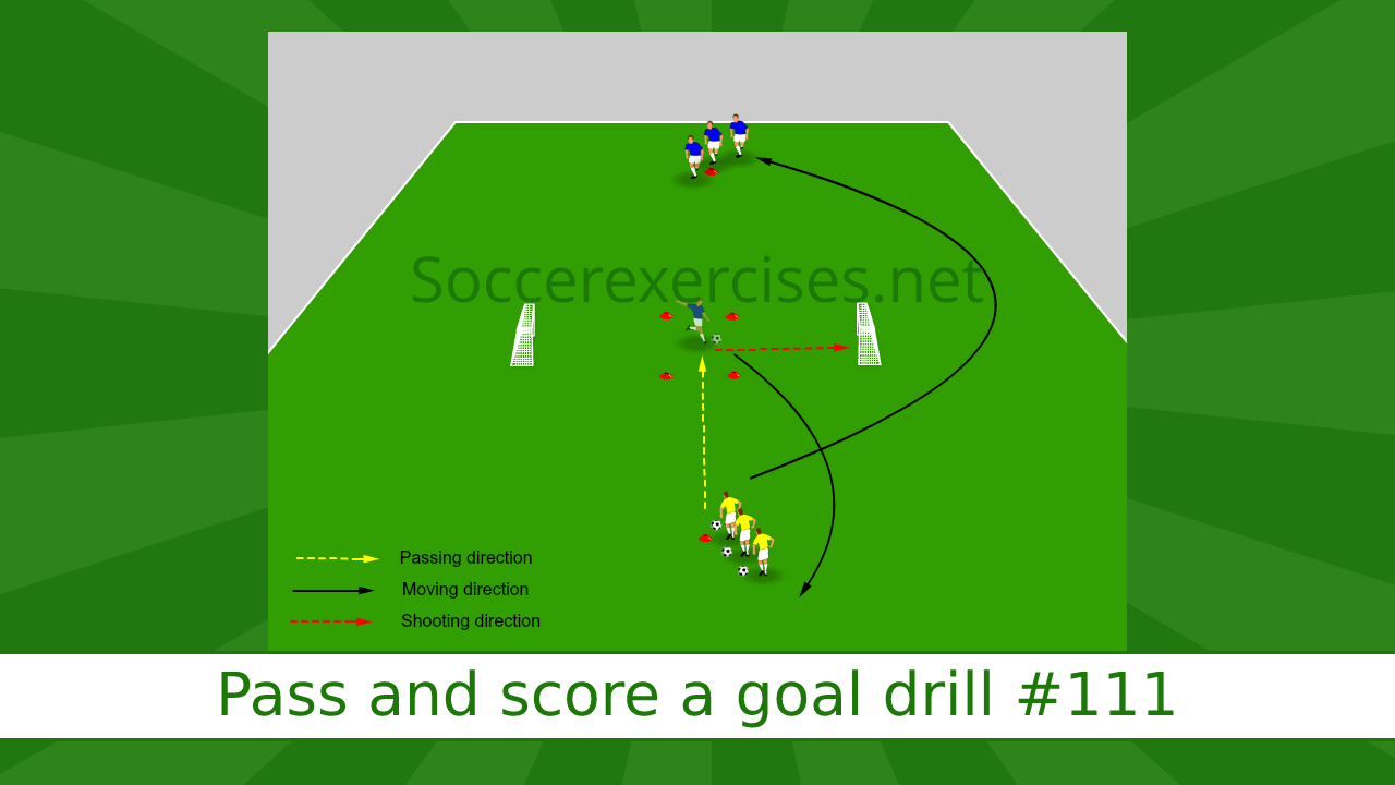 #111 Pass and score a goal drill