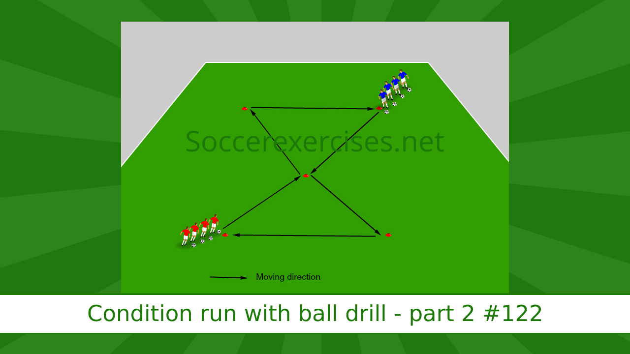 #122 Condition run with ball drill – part 2