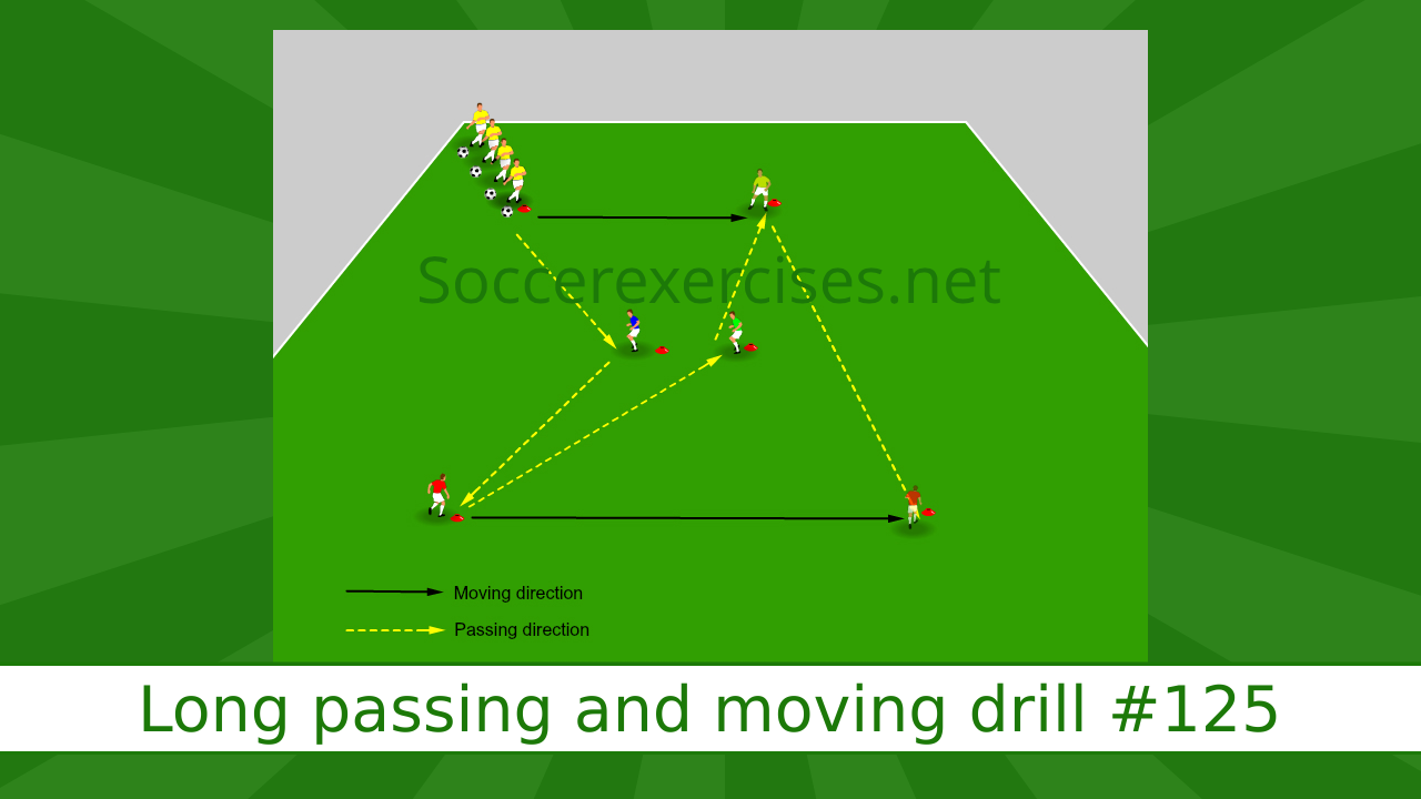 #125 Long passing and moving drill