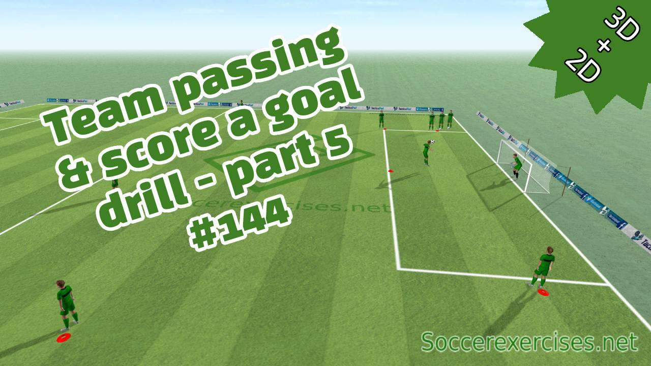 Team passing and score a goal - part 5